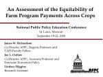 An Assessment of the Equitability of Farm Program Payments Across Crops