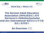 DVV, VHS and dvv international