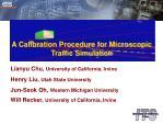 A Calibration Procedure for Microscopic Traffic Simulation