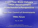 Cape Fear River Estuary TMDL Development Stakeholder's Perspective