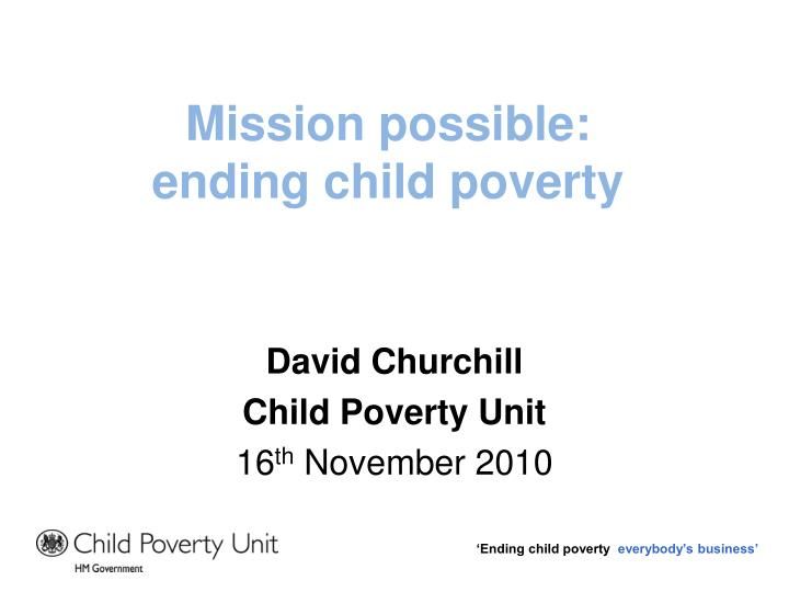 mission possible ending child poverty n.