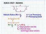 RUMUS CHEZY - MANNING