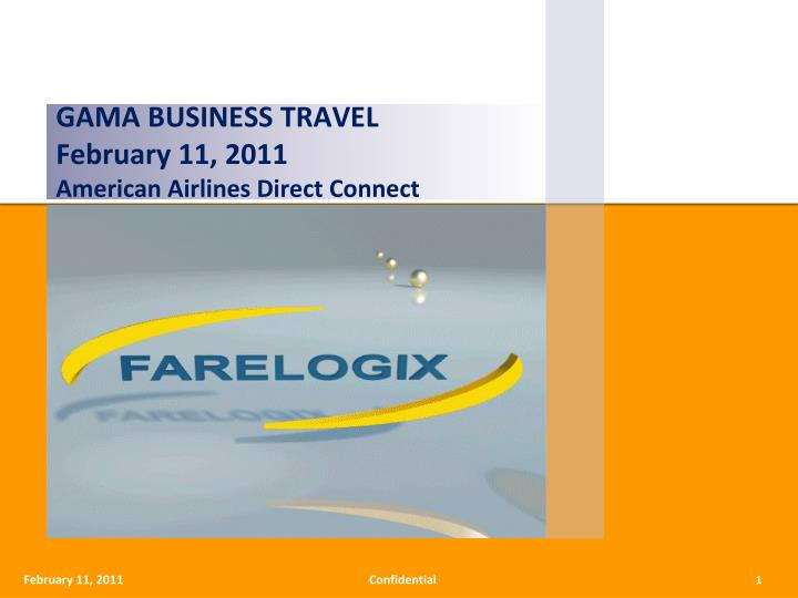 gama business travel february 11 2011 american airlines direct connect n.