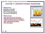 LECTURE 17:  DISCRETE FOURIER TRANSFORM