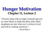 Hunger Motivation Chapter 11, Lecture 2