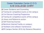 Career Orientation Centre (C O C) S B COLLEGE CHRY