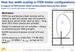 Heat flux width scaling in ITER limiter configurations
