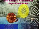 Low Energy n Astronomy in Super-Kamiokande