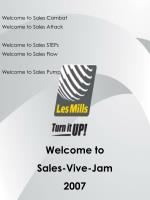 Welcome to Sales Combat  Welcome to Sales Attack Welcome to Sales STEPs Welcome to Sales Flow
