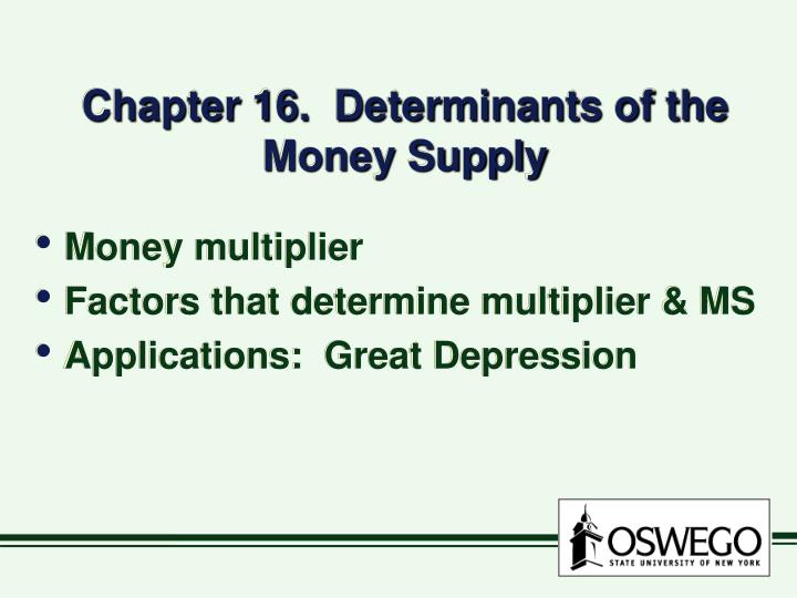 chapter 16 determinants of the money supply n.