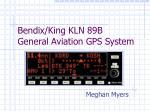Bendix/King KLN 89B  General Aviation GPS System