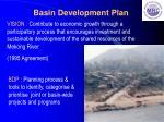 Basin Development Plan