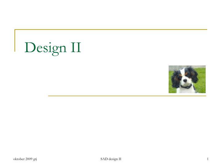 design ii n.