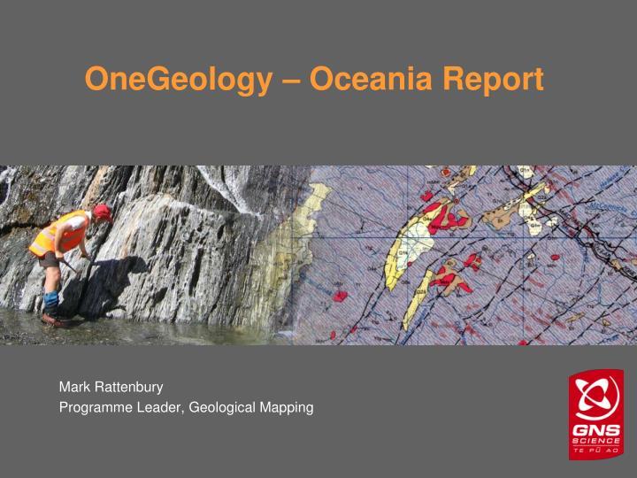 onegeology oceania report n.