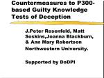Countermeasures to P300-based Guilty Knowledge Tests of Deception