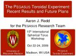 The Pegasus Toroidal Experiment: Recent Results and Future Plans