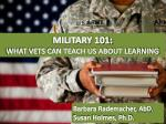 MILITARY 101: WHAT VETS CAN TEACH US ABOUT LEARNING