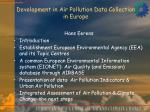 Development in Air Pollution Data Collection in Europe