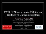 CMR of Non-ischemic Dilated and Restrictive Cardiomyopathies
