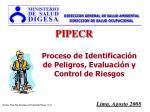 Proceso de Identificación de Peligros, Evaluación y Control de Riesgos