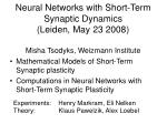 Mathematical Models of Short-Term Synaptic plasticity