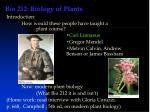 Bio 212: Biology of Plants