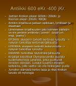 Antiikki 600 eKr.-400 jKr.