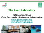 The Lean Laboratory