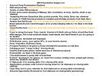 RE9 Presentation Supply List Arbonne Party Presentation Flipchart