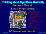 Network Flow & Linear Programming