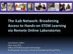 The iLab Network: Broadening Access to Hands-on STEM Learning via Remote Online Laboratories