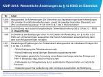 KStR 2013: Wesentliche Änderungen zu § 12 KStG im Überblick