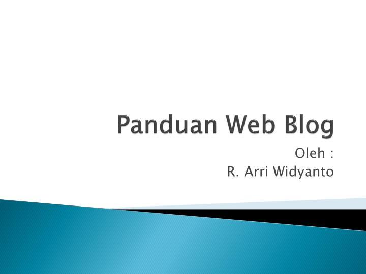 panduan web blog n.