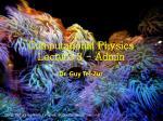 Computational Physics Lecture 3 - Admin