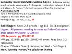 Geometry Date: 9/27/2011 Section 3.2