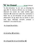 'Is' An Chopail An aimsir láithreach