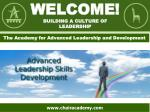 Welcome! building a culture of leadership