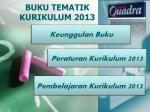 BUKU TEMATIK  KURIKULUM 2013
