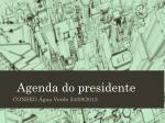 Agenda do presidente