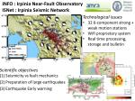INFO : Irpinia Near-Fault Observatory  ISNet : Irpinia Seismic Network