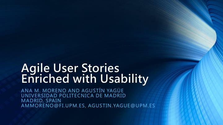 agile user stories enriched with usability n.