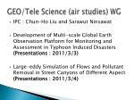 GEO/Tele Science (air studies ) WG