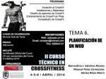 TEMA 6. PLANIFICACIÓN DE UN WOD