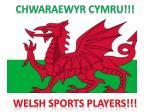 Chwaraewyr cymru!!! Welsh sports players!!!