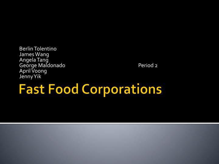 fast food corporations n.