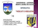 """UNIVERSIDAD AUTONOMA BENITO JUAREZ DE OAXACA INFORMATICA """"WEBCAST O WEBCASTING"""""""