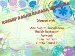 KONSEP DASAR BAHASA INDONESIA