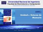 Universidad Nacional de Ingeniería Facultad de Electrotecnia y Computación