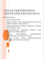 TUGAS TERSTRUKTUR  AKUNTANSI KEUANGAN II