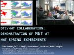 DTC/HWT Collaboration: Demonstration of MET at HWT Spring Experiments